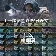 上千种电影级LUTs调色.CUBE预设带中文教程 支持AE/PR/PS/FCPX/达芬奇