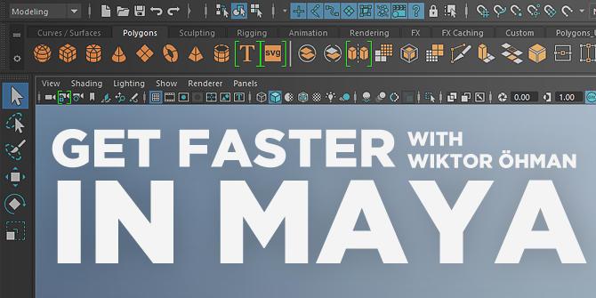 学习Maya技巧/建模/UV中获得更快的操作速度Gumroad – Get Faster in Maya Bundle ...