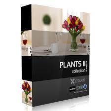 CGAxis Models Volume 21 Plants II C4D植物花草苏铁盆栽C4D模型