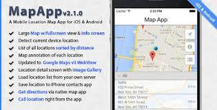 CodeCanyon - MapApp v2.0.0 - iOS and Android Mobile Location Map App Template...