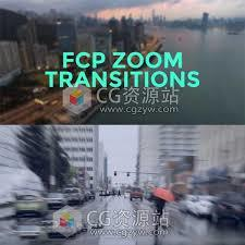 FCPX插件:32组冲击模糊视频转场预设+使用教程FCPX Zoom Transitions