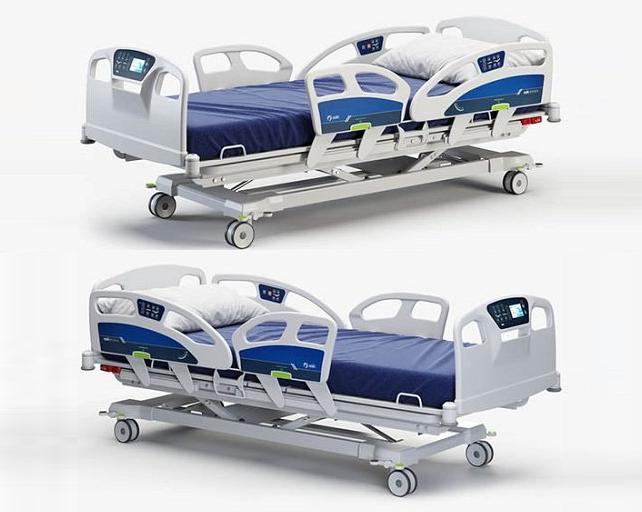 医院病床 急诊室UCI病床模型Hospital bed 02