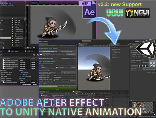 AE To Unity v2.8 – Unity导入AE软件动画系统