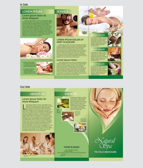 Natural Spa_Tri Fold Brochure Template Vol 3