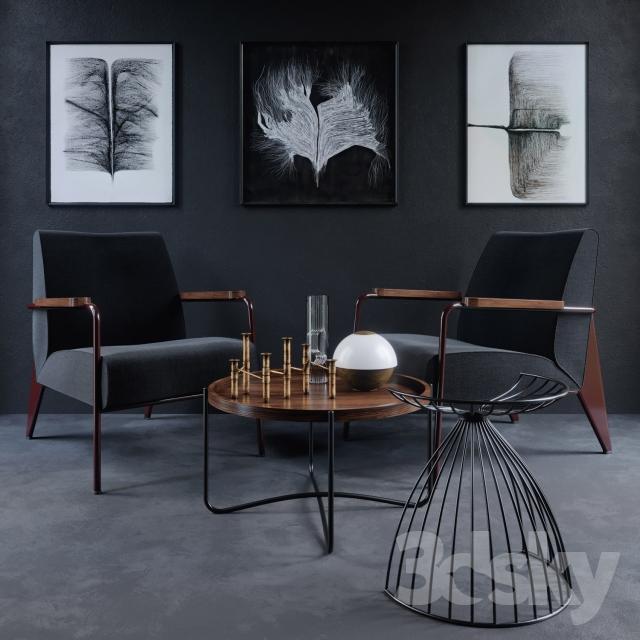 Vitra Chair Fauteuil de Salon 3d Model