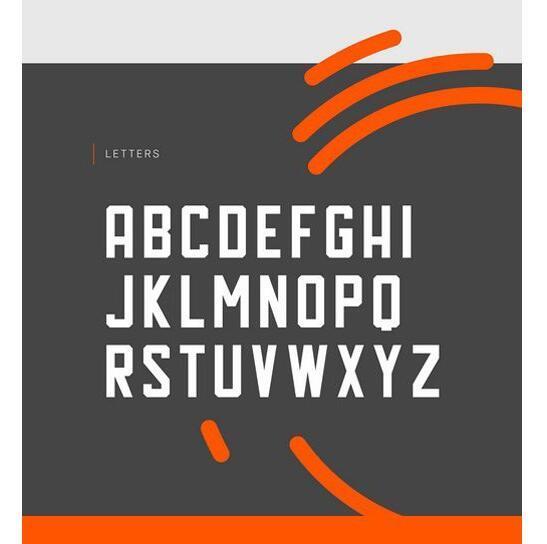 Hal Typeface 黄色非籿线字体