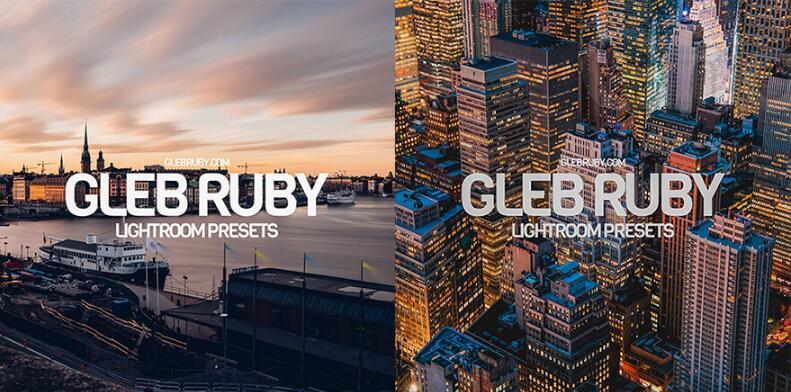 GLEBRUBY.COM - LIGHTROOM PRESETS (DNG, XMP)预设包