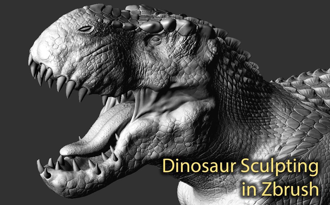ZBrush恐龙雕刻课程 Realistic Dinosaur Sculpting in ZBrush