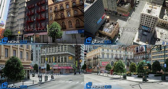 Cgtrader - 纽约城市建筑模型NYC 4 Blocks 31 Buildings
