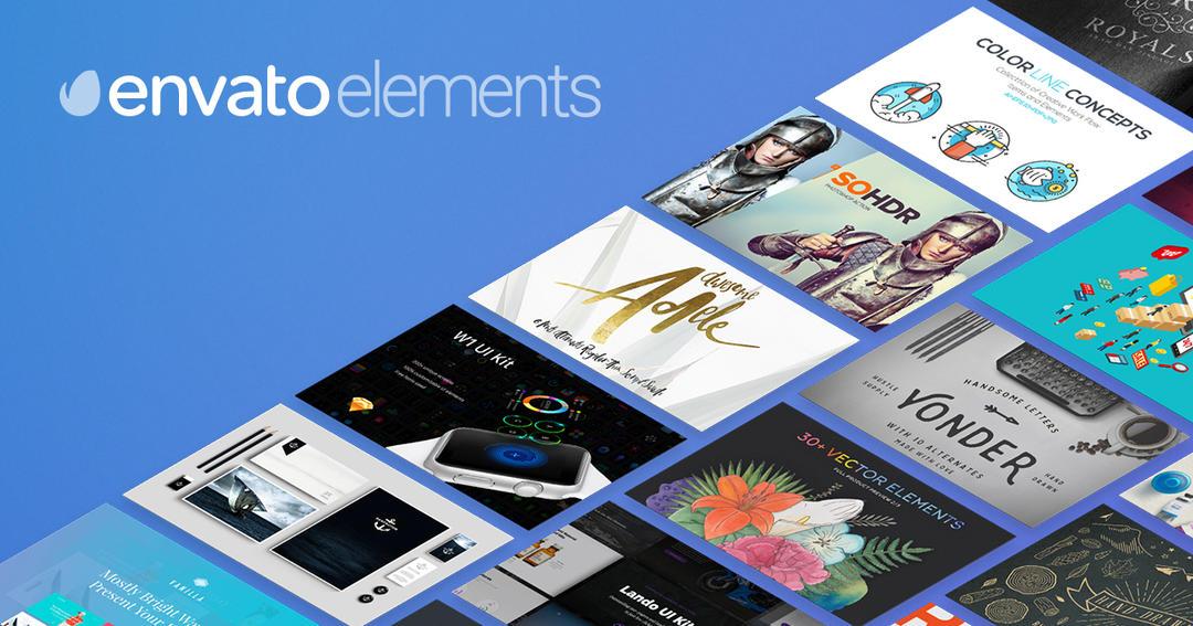 Envato Elements 2017 - subscription 2017 451GB