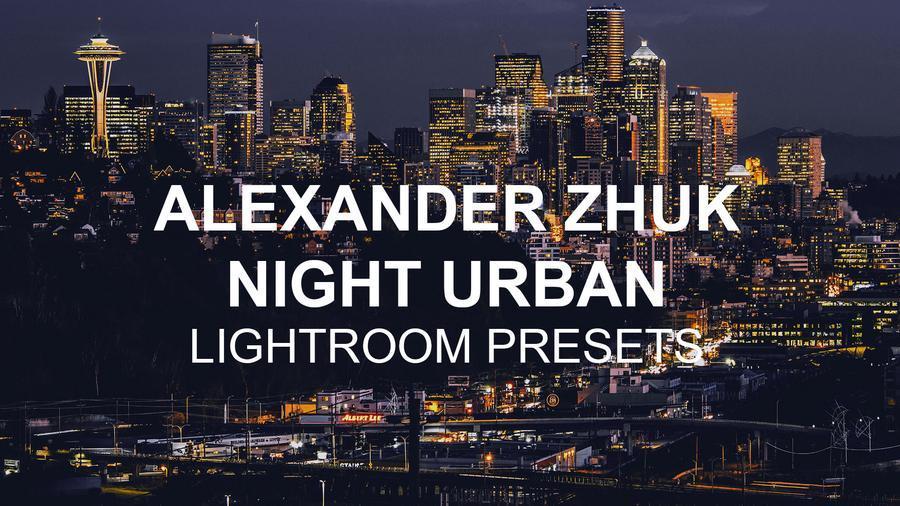 摄影师Alexander Zhuk城市夜景工业风黑金胶片Lightroom预设第二版