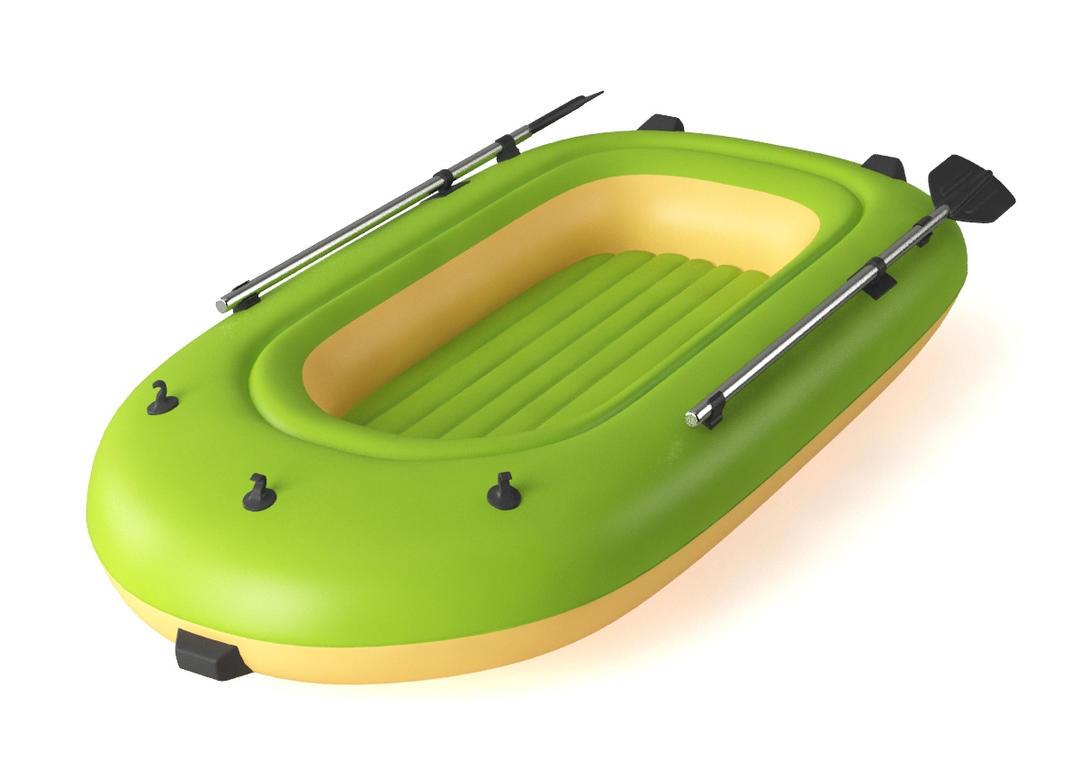 气船皮艇C4D模型 inflatable boat CNA88-20