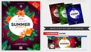 夏季派对热带植物饮料海报Summer Party Invitation V16 2019 PSD Flyer Template-缩略图