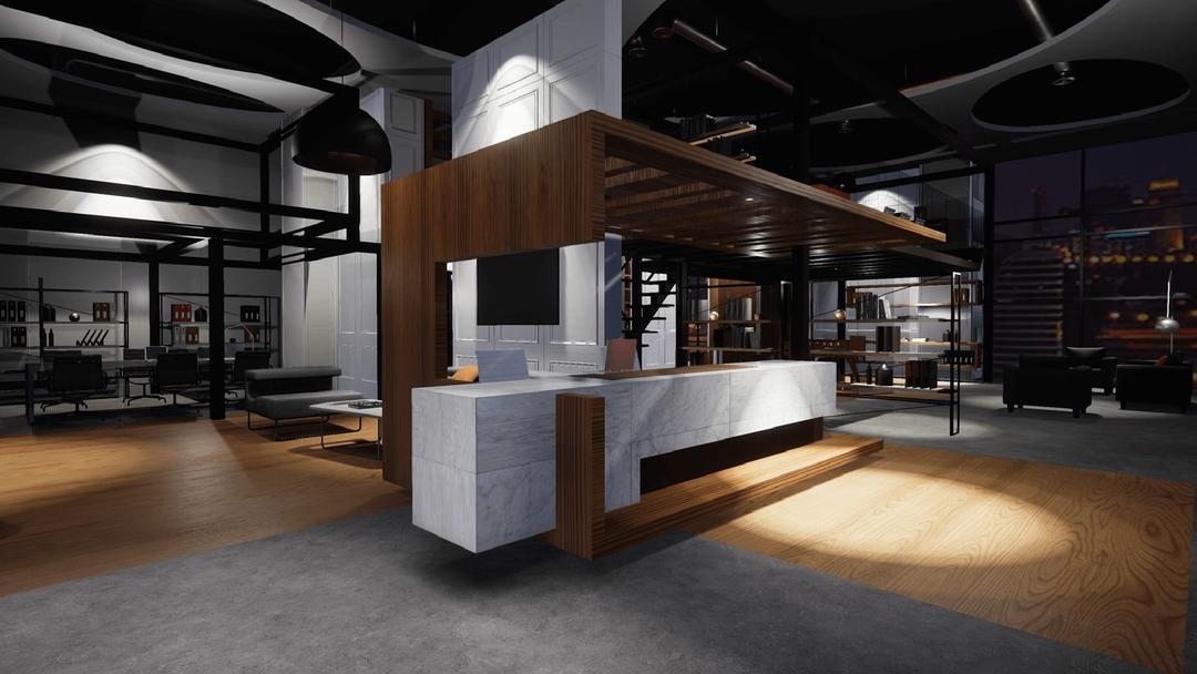 UE4 室内公共空间模型 UE4 室内设计模型 办公室模型CGTrader UE4 Office Low-poly