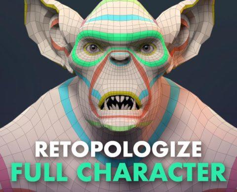 FlippedNormals How to Retopologize a Full Character with Henning and Morten