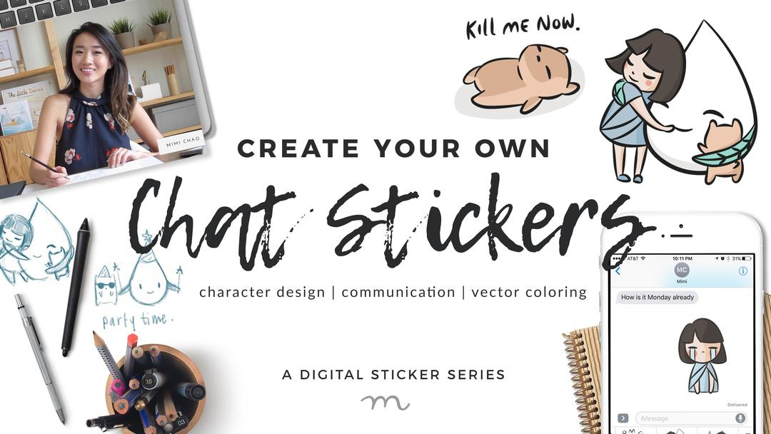 Make Your Own Chat Stickers! A Character Design and Vector Coloring Exercise