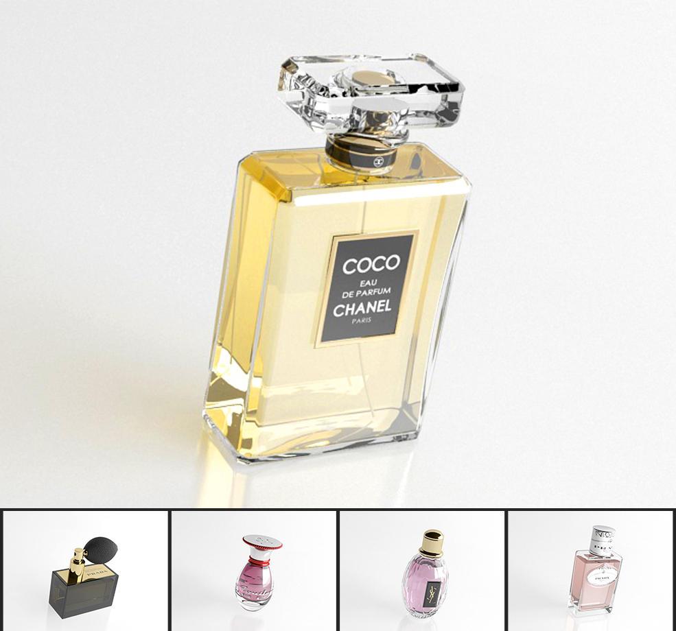 25个高档化妆品:香水瓶C4D模型合集 Perfume