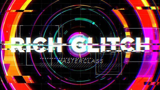 Motion Design School – Rich Glitch科技感信号损坏视频画面撕裂AE教程