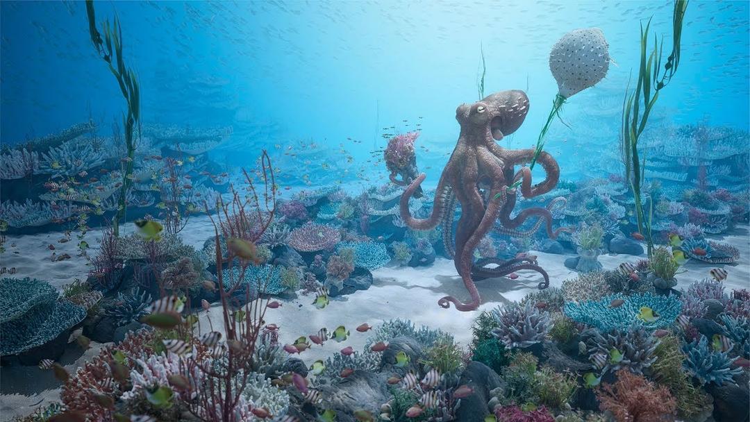 C4D+octane制作海底章鱼场景大型教程 UNHIDE School - Octopus Date