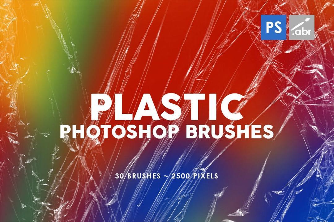 30款塑料纹理PS图案印章笔刷02 30 Plastic Photoshop Stamp Brushes | 02