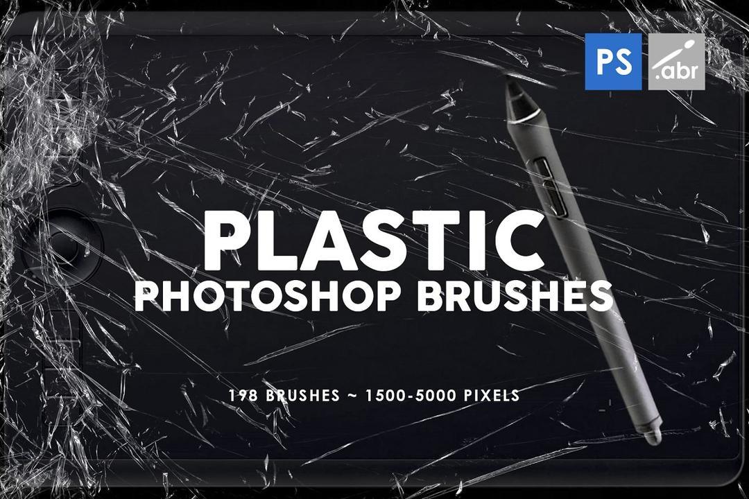 198 Plastic Photoshop Brushes 3814352