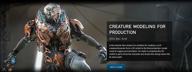 The Gnomon Workshop Creature Modeling Production使用ZBrush/Modo创建科幻生物角色绑定视频教程