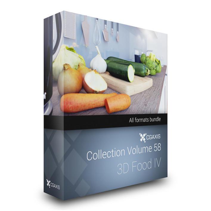 56个高精度的三维食品模型CGAxis Collection Volume 58 - 3D Food IV