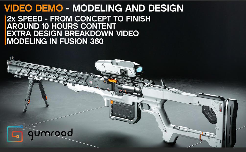 Sniper Design Demo in Fusion 360 - Alex Senechal