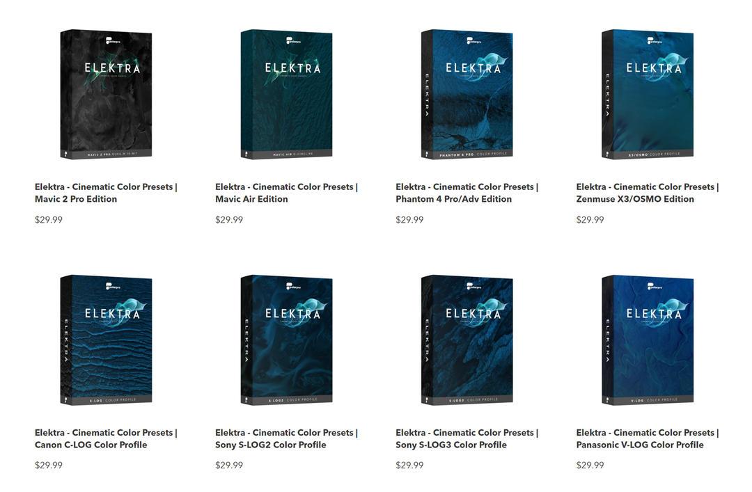 高级电影色彩LUTS预设9个合集包Cinematic Color Presets All Bundle [LUT](Elektra)