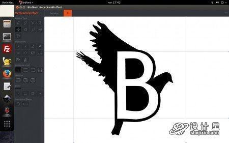 BirdFont v2.3.2 Portable ttf编辑软件 ttf转出svg图标软件