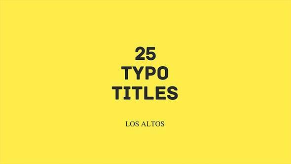 Los Altos l 25 Colorful Animated Typo