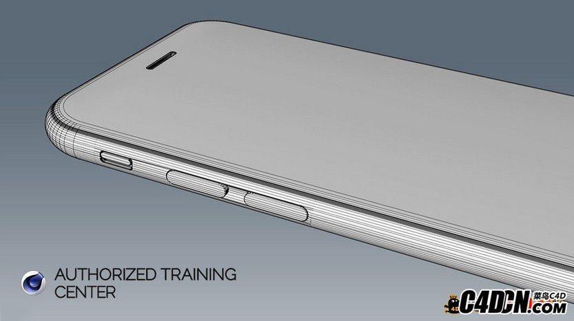 C4D建模:iphone 6手机建模教程(IHDT-小A)