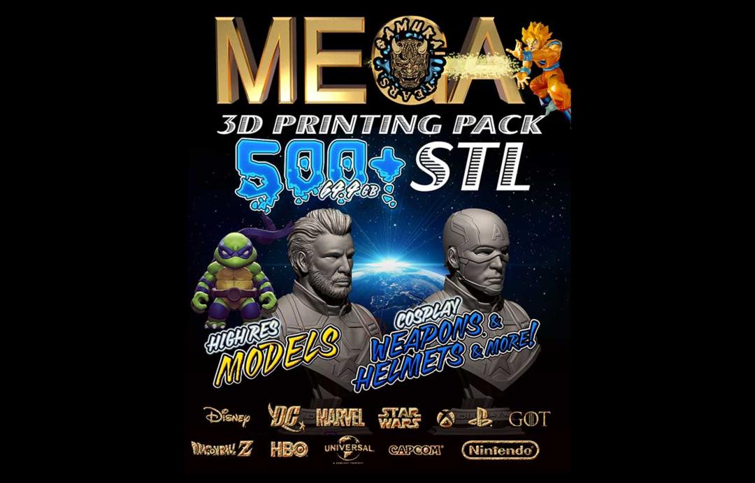 500套漫威人物模型Mega Pack 500+ STL 3d PRINT COMIC COSPLAY Models 漫威角色3d打印模型漫画角色3D模型