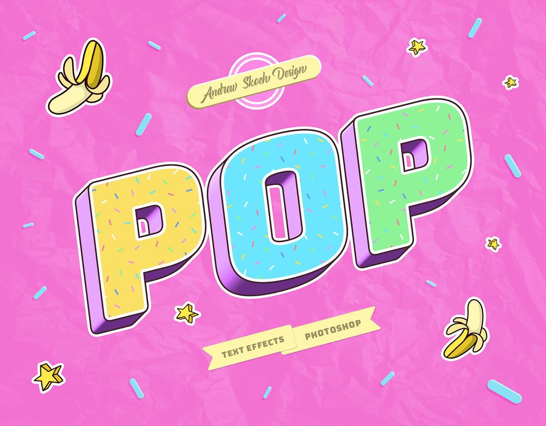 可爱的POP艺术字样式 Pop Art Text Effects