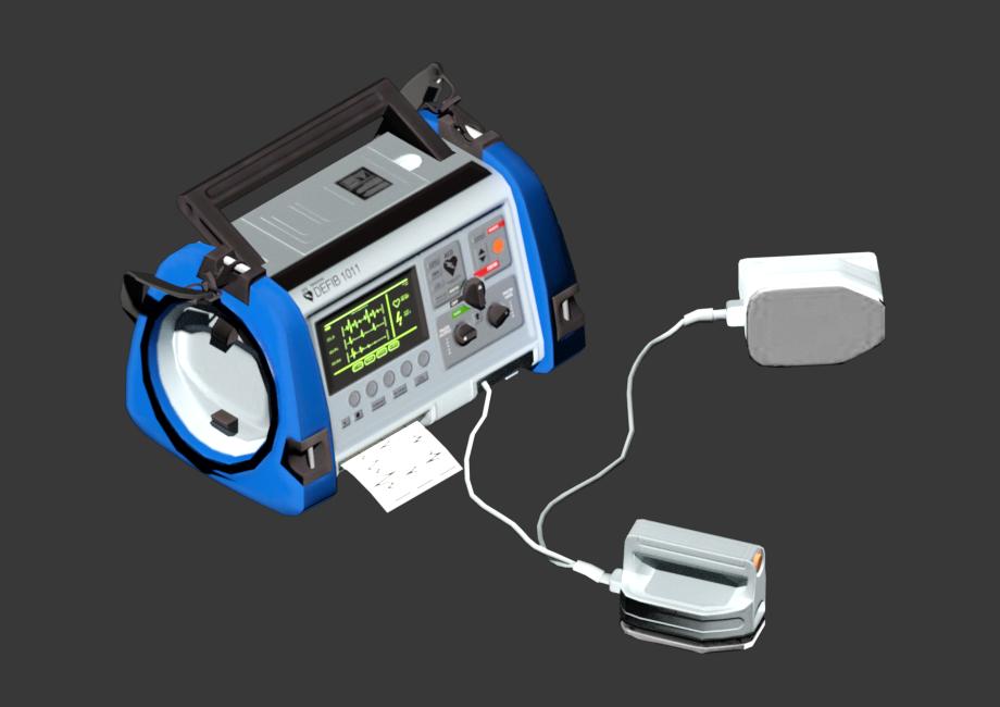 除颤器3D模型 心脏除颤仪 Defibrillator B