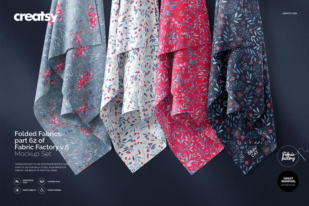 Hanging Fabrics Mockup 62/FF v.6 布料丝巾样机