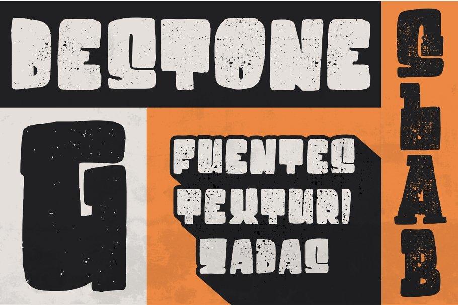 Destone - 2 Styled Font 复古波普艺术字体 pop广告字体