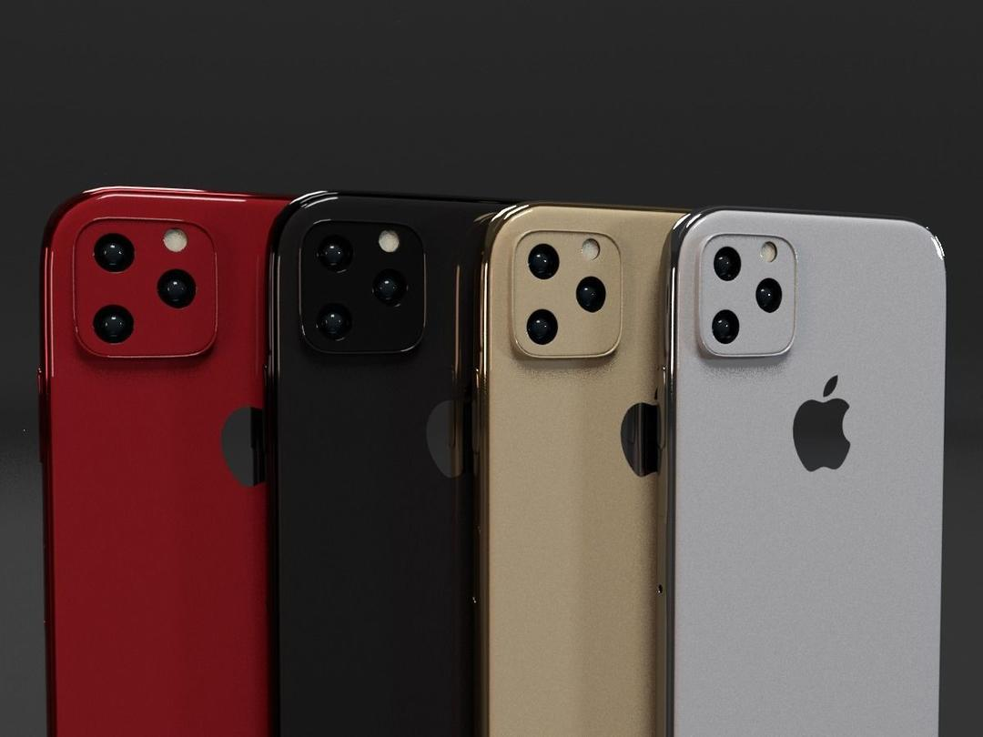 iPhone 11 iPhone 11 Pro iPhone 11 Pro Max In All Colors Bundle Low-poly苹果手机3D模型