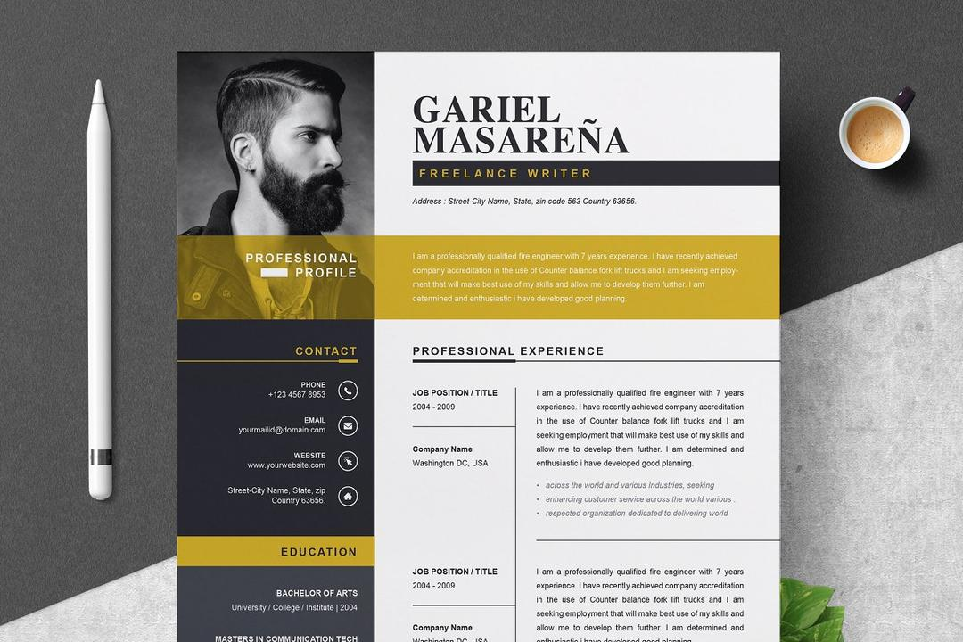 Professional Word Resume CV Template 2844705 Resume Template 22597901个人简历模板