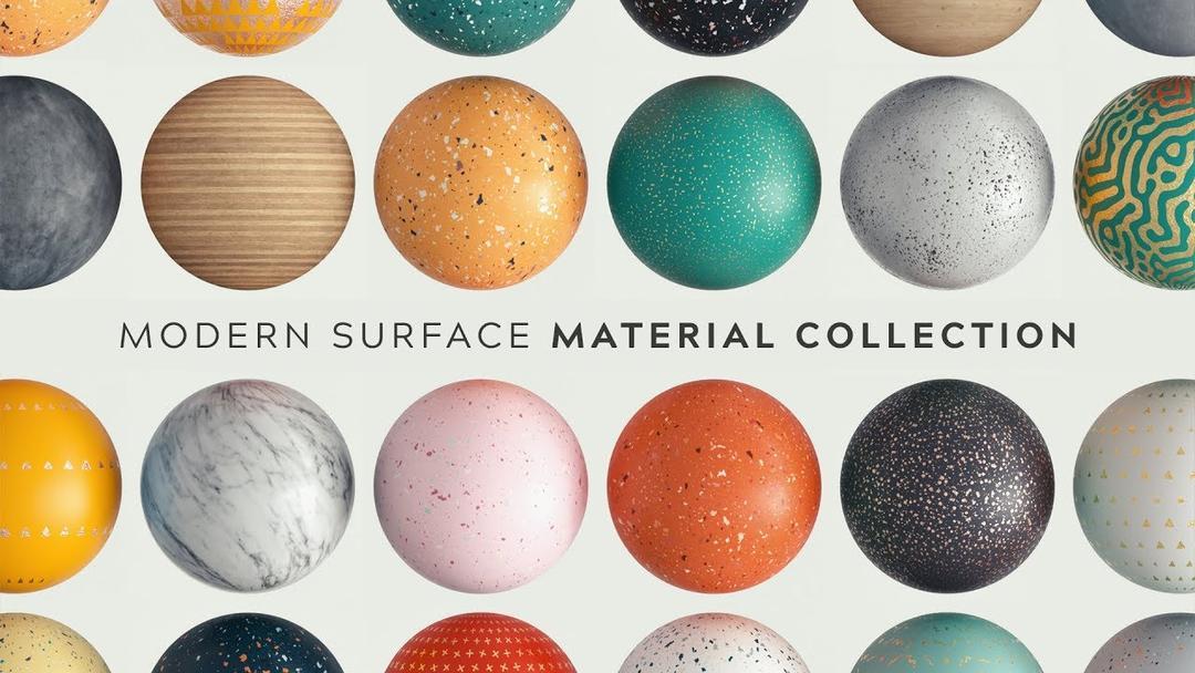 Greyscalegorilla GSG Modern Surface Material Collection Redshift Arnold