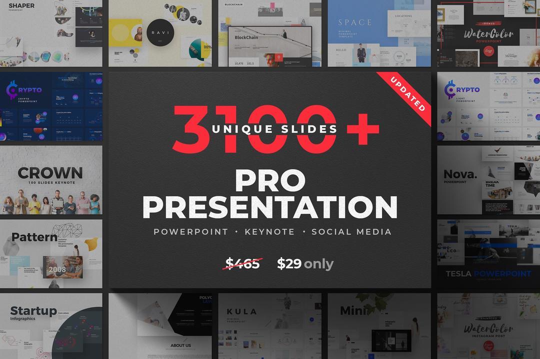 CreativeMarket 28-in-1 Presentation Bundle 2360208