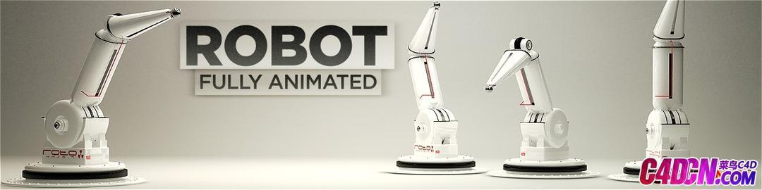 C4D机械手臂模型Robot-Arm C4D模型