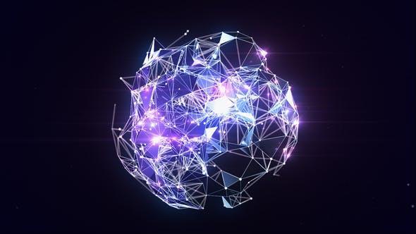 科技风格logo展示ae模板 Plexus Globe Logo Reveal 21817274