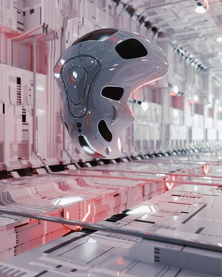 C4D实用工程第346季:外星科幻机舱空间C4D工程文件 c4d project