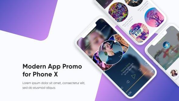 APP应用包装AE模板Modern App Promo 21398630