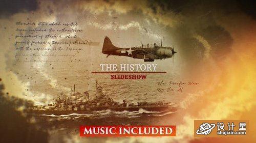 Videohive The History Slideshow 23471196 历史照片回忆片头AE模板