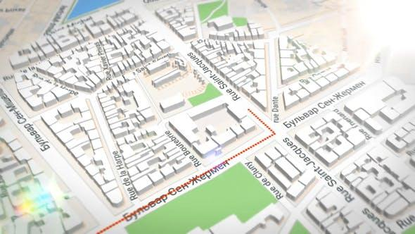 谷歌三维地图AE模板 VideoHive 3d Map Generator