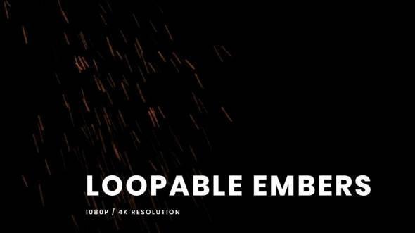 火星粒子掉落飘动4K视频素材 VFXCentral – Loopable Embers