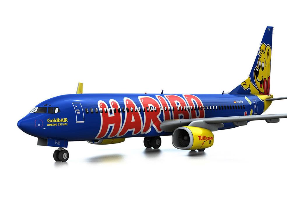 波音737飞机 中短程双发喷气式客机C4D模型 Boeing 737-800 GoldbAIR,3D模型,C4D之家