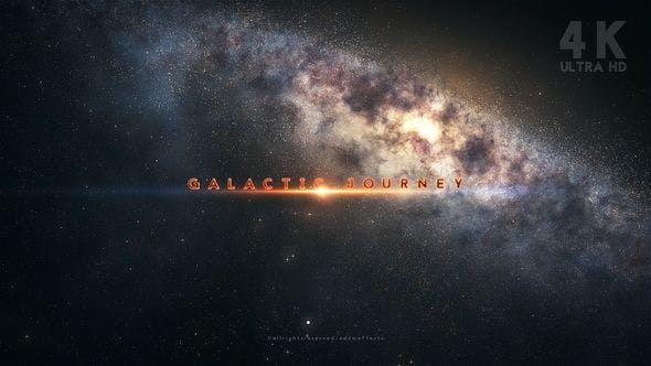 大气天体银河系粒子飞射太空旅程标题序列片头动画 Galactic Journey Title Sequence